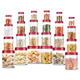 Multipurpose jar to store cookies, snacks, food grains and dry fruits. Make your kitchen counter and pantry organized with this stylish jar. The modern design perfect for your beautiful home and kitchen, it helps you save space in your kitchen. Round...