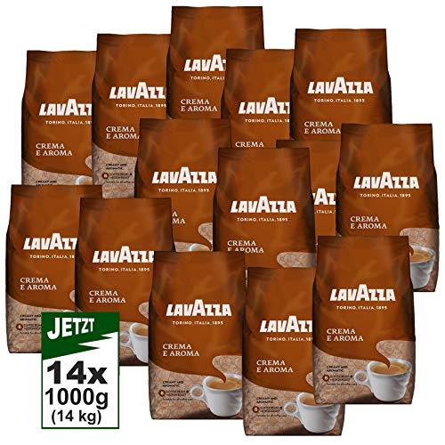 LAVAZZA Kaffee Crema E Aroma 14x1000g (14kg) Premium Kaffee Italia, cremig und aromatisch