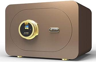 Safe Fingerprint Unlock Password Box Home Hidden Safe Wardrobe Mini Safe Burglar Alarm Safe (Color : Brown, Size : 40 * 30...