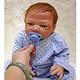 HRYEOY Muñecos Bebé Reborn Niño Realista Silicona Recién Nacido 20 Inch 50cm