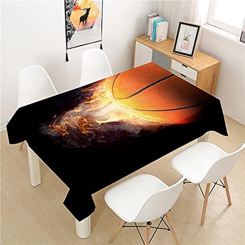 XXDD Basketball Tischdecke Picknicktisch rechteckige leichte Luxus Tischdecke waschbar Haushalt Tischdekoration Tischdecke A8 140x180cm
