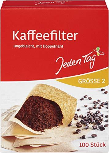 Jeden Tag Filtertüten Kaffee Größe 2, 100 Stück, 187 g