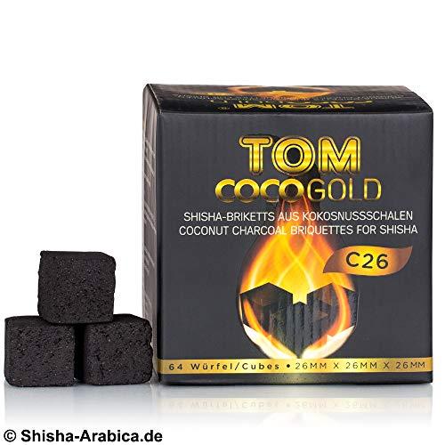 Tom Cococha Oro C261kg | Carbón natural | Shisha de carbón de cáscaras