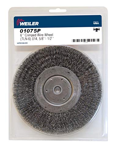 Pack of 2 3//4 Arbor Hole Weiler 01228 10 Narrow Face Crimped Wire Wheel.006 Steel Fill