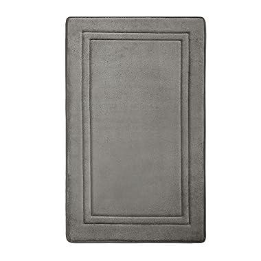 Microdry 10874 Memory Foam Speeddry Skid-Resistant Bath Mat, 21 x 34, Charcoal