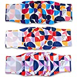 Flying Paws Male Dog Diapers Washable - Belly Band for Male Dogs (3 Pack), Reusable Durable Doggie Diapers, Leakproof Doggy Diapers for Male Dogs XSmall