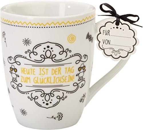 Sheepworld 59257 Lieblingstasse Heute ist der Tag zum glücklich sein, Tee-Tasse, mit Geschenk-Anhänger