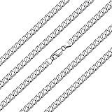 ChainsHouse Silver Necklace 925 for Boys Girls - 60cm Largo Cadena Plata Fina Mujer Hombre Collar Nombre Personalizado Hip Hop Rap Chunky