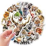 MENGYUE 50 Uds Pegatinas de Animales de Dibujos Animados de Diamantes Pegatinas Impermeables de Low Poly Art 3D en el teléfono Pegatinas de Vinilo de Guitarra Animales geométricos