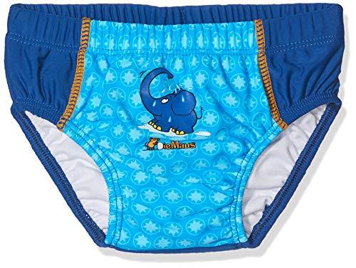 Playshoes Baby Jungen Uv-schutz Windelhose die Maus Schwimmwindel, Blau (Marine 11), 86-92 EU