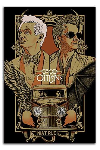 ARYAGO Good Omens TV-Serie Gemälde Prints Modern 50,8 x 76,2 cm Movie Poster Crowley & Aziraphale Wall Decor Office Home Decor Kunstwerk