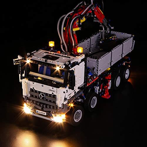 Nlne Kit De Iluminación Led para Lego Mercedes-Benz Arocs 3245,Compatible con Ladrillos De Construcción Lego Modelo 42043 - NO Incluido En El Modelo