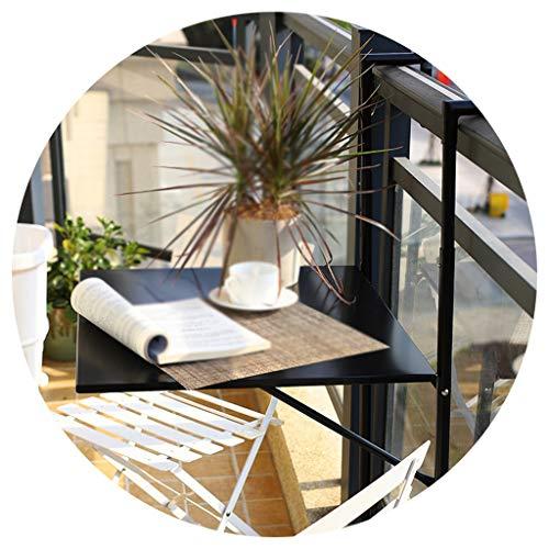 Wand-Klapptisch, Justierbarer Faltender Balkon-Plattform-Tisch, Ladekapazität 15kg Hängender Tisch Zum Zusammenklappen Für Die Einfache Aufhängung Der Computer-Schreibtisch-Minibar (60 X 40 cm)
