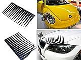 Deals & Bargain 3D auto ciglia Vinly sticker Big Long Eye adesivi decorativi per fari (2-pack–nero)