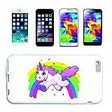 Reifen-Markt Funda compatible con Samsung Galaxy S7 Edge, unicornio, criaturas míticas, caballo, cabra, emoji, Licorne, Unicornio, Mythos, cuerno medieval, funda rígida protectora