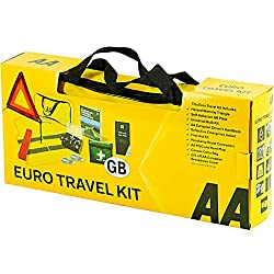 ESSENTIAL items for safe and enjoyable driving in Europe FOR EMERGENCIES first aid kit, warning triangle, hi-vis vest, bulb kit FOR SAFETY headlight beam benders and GB plate FOR CONVENIENCE maps and the AA European Driver's Handbook AA BRAND product...