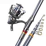 MIAO Caña de pescar, Carbon Shot largo Sea Pole Set gama completa de artes de pesca , 3m