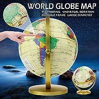 1pc 20cm360度回転世界地球儀スタンド付き地球地図子供子供地理教育玩具ホームオフィス装飾装飾品