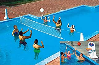 NEW Pool Jam In Ground Valleyball/Basketball Net Combo