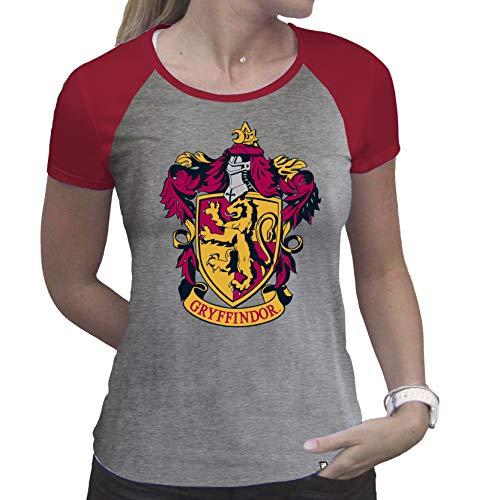 ABYstyle - Harry Potter - Tshirt - Grifondoro - Donna - Grigio e Rosso - Premium (M)