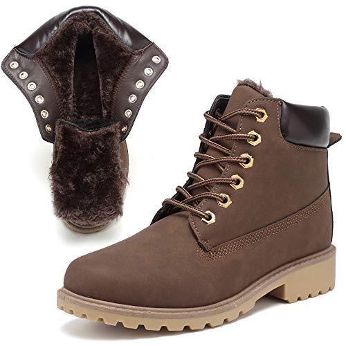 KARKEIN Warm Winter Snow Boots for Women Combat Work Boots Waterproof...
