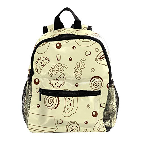 Campus Backpack Soup Dumplings Noodles Casual Backpack Lightweight Waterproof Student Bag Design Messenger Knapsack for Boys and Girls 10x4x12in