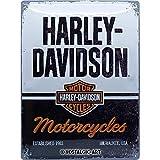 Nostalgic-Art Targhe Vintage, Harley-Davidson – Motorcycles – Idea regalo per amanti di moto, in metallo, Design retro per decorazione, 30 x 40 cm