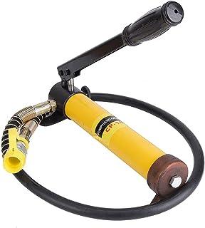 Hydraulische Jack,10T Korte Jack + Handmatige Hydraulische Pomp Set Stalen Hefhandvat Tool voor Auto Repareren