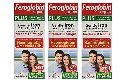 (3 Pack) - Vitabiotics Feroglobin Plus - 200 Millilitre