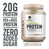 Nature's Best Plant Based Vegan Protein Powder by Isopure - Organic Keto Friendly, Low Carb, Gluten Free, 20g Protein, 0g Sugar, Unflavored, 1.15 Pound (20 Servings)
