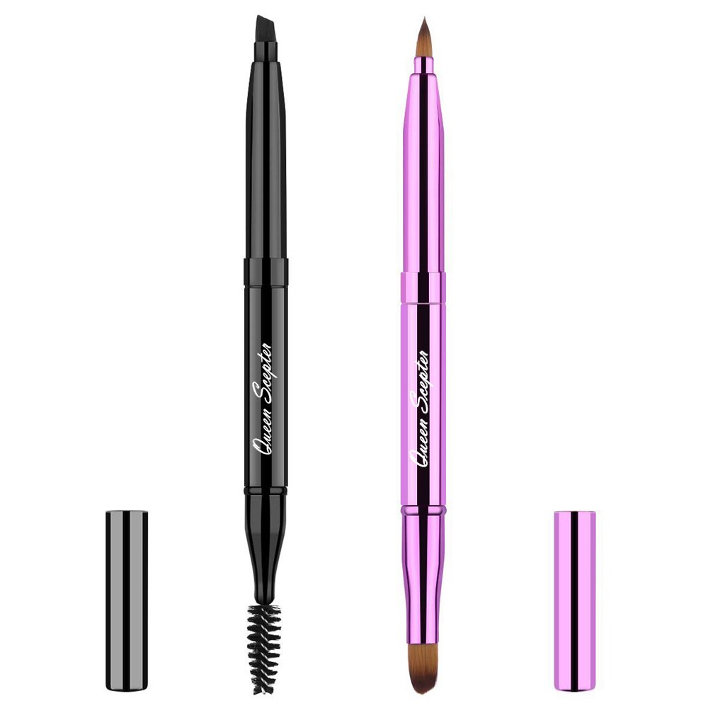 Attention brand 2 Pieces Retractable Eyebrow Lip 5 popular Soft Makeup Eyelash Brush