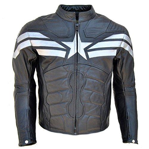 Coolhides Men's Captain Real Leather Winter Soldier Jacket X-Large Cow Black