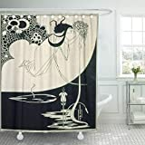 Semtomn Shower Curtain Fine The Climax from Salome by Oscar Beardsley Aubrey 66'x72' Home Decor Waterproof Bath Bathroom Curtains Set with Hooks