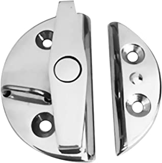 Qfauto Marine Boat Door Catch Latch 316 Stainless Steel Door Latch Round 55mm Twist Lock Suit for Boat and Many External Cabinet Applications