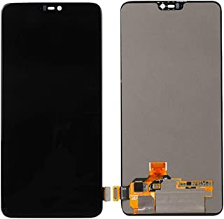 for OnePlus 6T Display LCD Glass Touch Digitizer Screen Replacement Digitizer Assembly (Black)