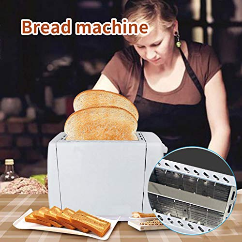 Toasters 2 Slice Best Rated Prime,Stainless Steel,Toaster -Bagel/Defrost/Reheat/Cancel Function, Removable Crumb Tray,for Various Bread Types(White