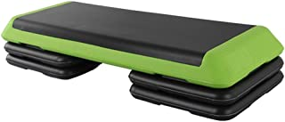 Step machines Aerobic Stepper, Durable Non-slip Surface Aerobic Step Fitness Equipment With Wide Platform And 2 Sets Of Ri...