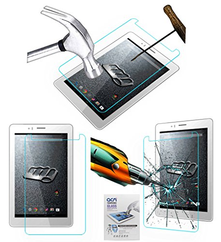 Acm Tempered Glass Screenguard Compatible with Micromax Canvas Tab P470 Tablet Screen Guard Scratch Protector