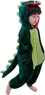Surgoal Enfants Flanelle Pyjama Combinaison Garçons Filles Barboteuses Grenouillères Encapuchonné Dinosaure Salopette Tenues