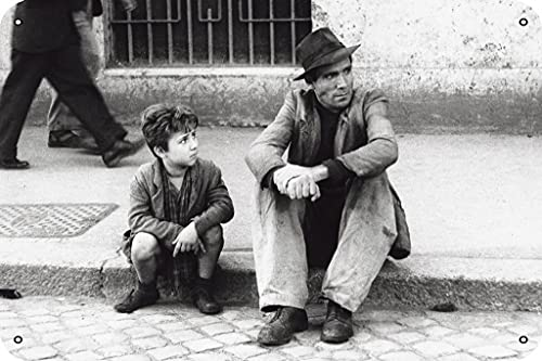 Bicycle Thieves (1948) IMDB Top 250 Poster Metal Tin Sign 8x12 Inch Movies & TV Series Wall Decor
