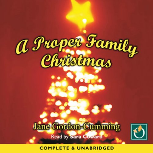 A Proper Family Christmas audiobook cover art