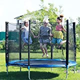 Trampoline Protective Net,Premium Nylon Replacement Safety Net for Trampoline,6ft 8ft 10ft 12ft Garden Trampoline Replacement Net, Net On The Outside,Tear and Weather-Resistant(Net Only)