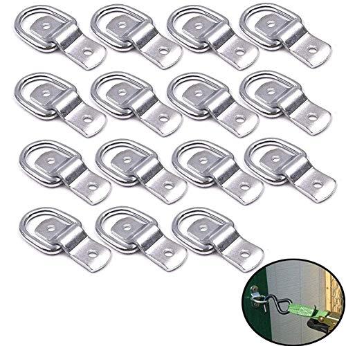 VintageBee 15 Stück D-Ring-Spannringe, 6,35 mm D-Ringe Anker Zurrring für Lasten an Anhänger, LKW, Wohnmobil, Wohnmobil, Vans, ATV, SUV, Boote, Motorräder, etc.