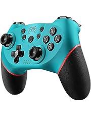 Diswoe Mando para Nintendo Switch, Wireless Bluetooth Pro Controller Controlador Inalámbrico con Función Gyro Axis/Dual Shock y Turbo Mando Inalámbrico Compatible con Nintendo Switch/Lite