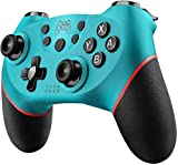 Diswoe Mando para Nintendo Switch, Wireless Bluetooth Pro Controller Controlador...