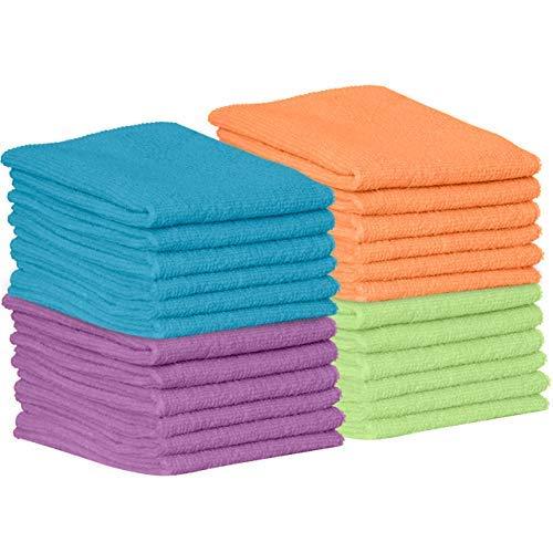 Paños de limpieza de microfibra para cocina, coche, paños súper absorbentes - pulir trapos de tienda con raya..