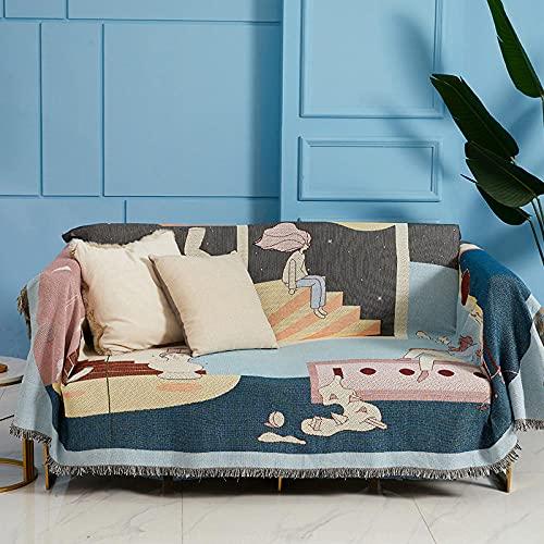 haoyunlai Sofa Throw Blanket Sofa Chair Cover sofa cover armchair blanket bed blanket summer air conditioner shawl-Space couple_160 * 220