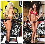 2 Pack Motocross Girls Poster Bikini MX Pin...