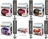 TASSIMO T Discs Pods Coffee Latte Cappuccino Americano Cadbury Hot Chocolate Variety Box Set 56 Cups Drinks ☕☕ by Speedy Bot