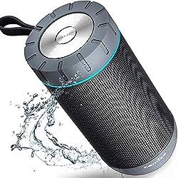 Enceinte Bluetooth Etanche: La protection contre les waterproof vous permet de ne plus vous soucier de la pluie ou des liquides renversés accidentellement, vous pouvez même la nettoyer à l'eau du robinet. Mais ne la plongez pas complètement dans l'ea...